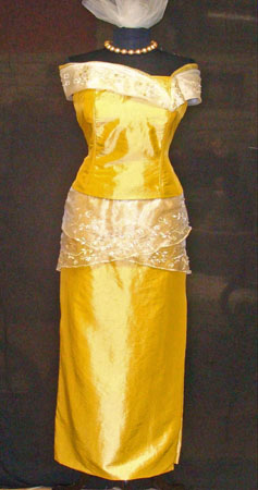 Designer Formal Dress with pouch bag
